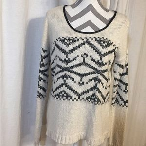 Black and off-white oversized sweater
